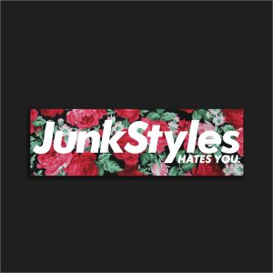 The JSHY Floral Box Logo Sticker