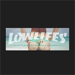 The LowLifes Beach Booty Slap Sticker