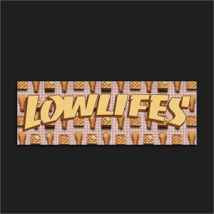 The LowLifes Chicks & Waffles Slap Sticker