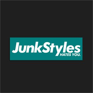 The JSHY Teal Box Logo Sticker