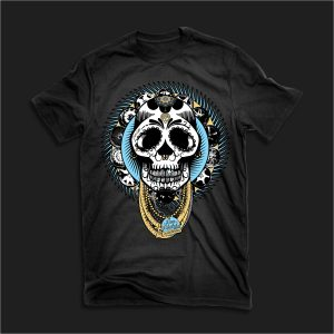 The Fresh to Debt Sugar Skull Tee