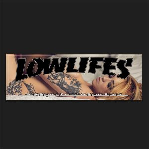 The Lowlifes Good vs Evil Slap Sticker