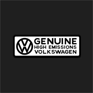The High Emissions Sticker