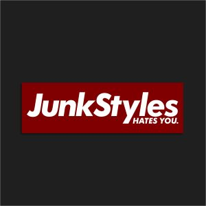 The JSHY Maroon Box Logo Sticker